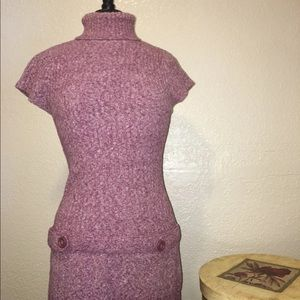 Dresses & Skirts - Pink casual cozy ribbed stretchy sweater dress